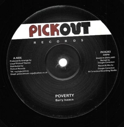 Barry Issac - Poverty / Poverty Dub (Pickout) 12""
